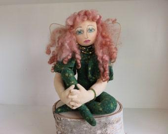 Irish Fairy Art Doll,  Celtic Fairy Art doll, Irish Fairy Doll OOAK