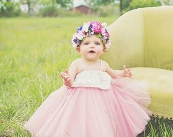 Toddler Little Girls-Baby Very Full Tulle Flower Girl New Born Tutu Tulle Skirt