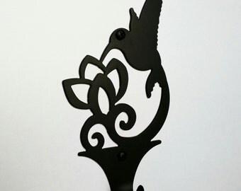 Hummingbird wall hook, Bird theme kitchen, bath, dining room, Bath robe or towel hook, Key hook, Mug hook, Coat hook, Hummingbird décor