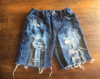 Boys custom denim shorts
