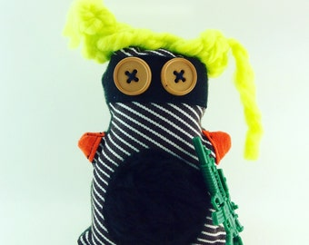 Divo Gorshef, Chubbee Doll, stuffed plushie, handmade