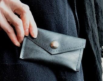 Grey Leather Bag, Grey Card Carrier, Money Wallet, Small Grey Wallet, Leather Card Carrier, Grey Leather Wallet, Grey Cash Wallet