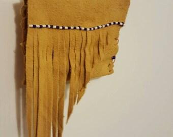"Native Carolina Beaded Leather ""Wish"" Bags"