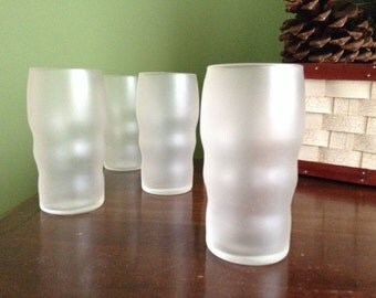 Frosted Fountain Glasses - Vintage Soda Fountain Glasses - Vintage Frosted Tumblers