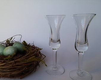 Set of 2 Fluted Liquer Glasses