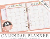 A5 Calendar Planner Inserts (PRINTED) - ROSA Collection - Kikki K Large Filofax A5 Sized Paper Plan - Hole Punch Optional - Cover Optional