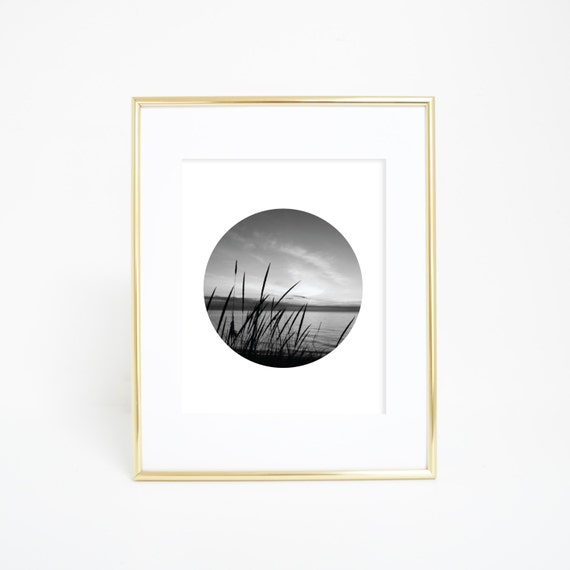 Dune Print, Digital Print, Black & White Photo, Sunset Photography, Wall Art, Sleeping Bear Dunes, Coastal Decor, Circle Print, Circle Art