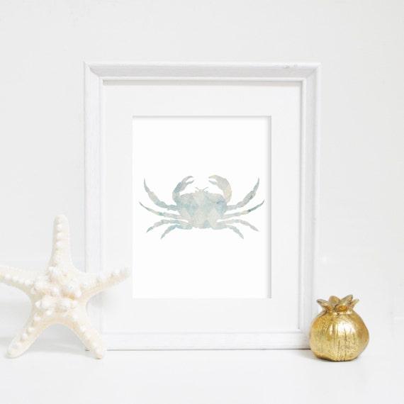 Crab Wall Art, Wall Decor, Crab Print, Crab Art Print Nautical Print, Nautical Decor, Beach House Decor, Digital Print, Sea Wall Art