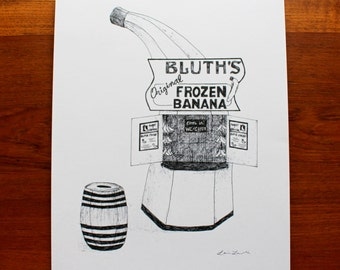Bluth's Frozen Banana Stand Print