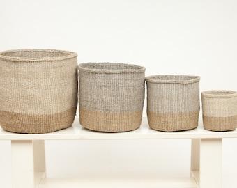 MBILI: Two Tone Woven Storage Basket