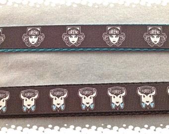 3/4 Wide Custom Made Adjustable Furies or  Sirens Roller Derby Team Dog Collar