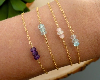 Mini Bar Multi Birthstone Bracelet