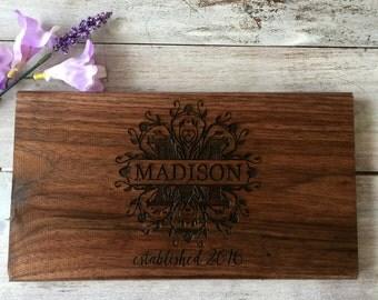 Cutting Board, Engraved Cutting Board, Personalized Cutting Board, Wedding Gift, Newlywed Gift