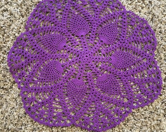 12.5 inch Beautiful Purple Cotton Doily