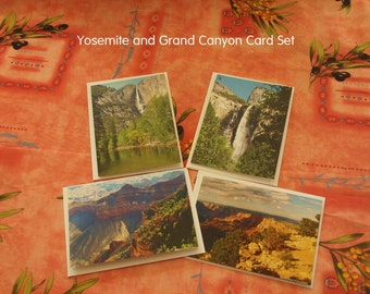 "Yosemite & Grand Canyon Photography, ""Yosemite and Grand Canyon Card Package"", Yosemite Print, Grand Canyon Print, National Park Lovers Gift"