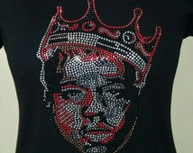 Biggie Smalls/Notorious BIG Crowned rhinestone T-shirt