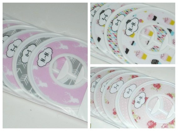 babygirl closet divides for  organizing space, n.-n. to 24 month (6 pcs)