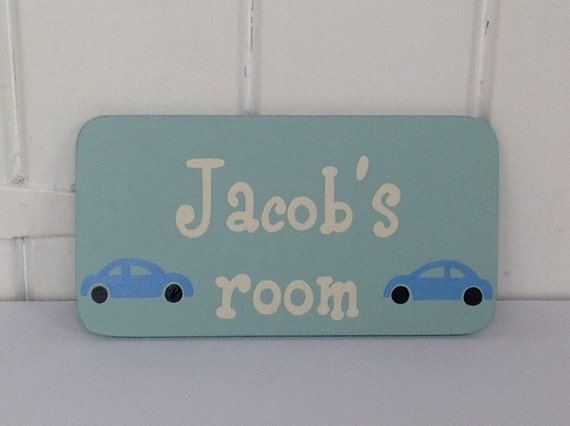 Boys Personalised Door Sign Bedroom Door Sign Name Sign