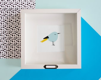Blue Birdie Print