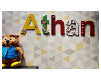 Personalised baby name gift idea wooden letters