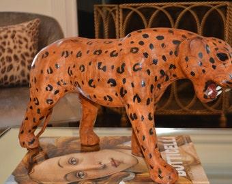 Vintage Leather Cheetah