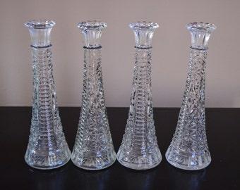 """Set of 4 vintage bud vases 9"""""""