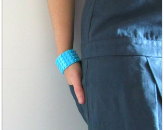 Lego® bracelet medium Azure rare bricks handmade with original Lego® bricks, lego jewelry
