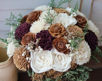 Winter wedding, winter bouquet, Wedding bouquet, Sola bouquet, wedding bouquet, cream bouquet, gold bouquet
