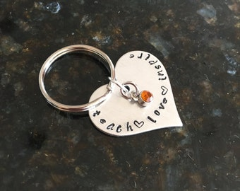 Teach Love Inspire Keychain / Teacher Gift