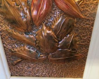 Copper Wall Art vintage copper wall art | etsy