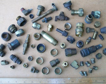 Vintage Lot of 60 Brass Fittings