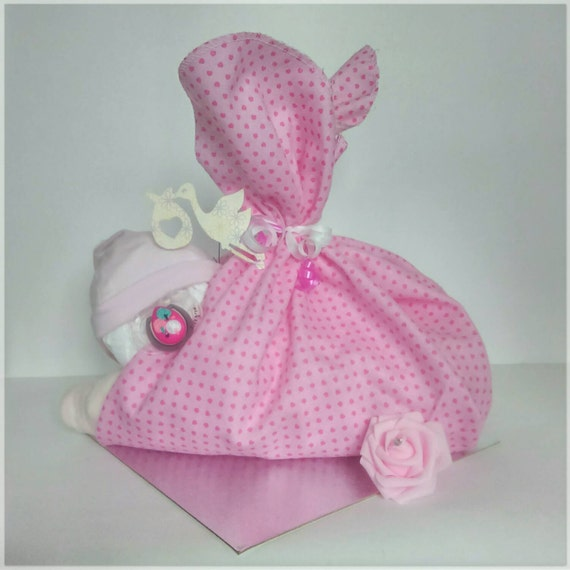 Baby Gifts Quirky : New baby gift nappy cake shower girl unusual