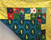 Goodnight Moon Organic Baby Quilt, Toddler Lovie, Lap Blanket, Tummy Time Mat, Great Shower Gift