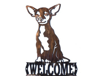 Chihuahua Welcome Sign - CAN BE CUSTOMIZED!
