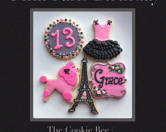 Paris Party Sugar cookies