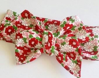 Head wrap {Catherine} baby head wrap, bows, handmade bows