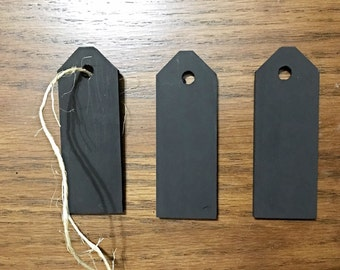 Wood tags - chalk painted