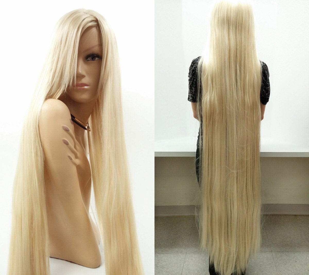 Super Long 60 Inch Blonde Rapunzel Style Wig Lady Godiva Wig