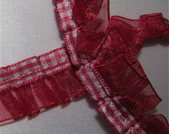 Burgundy Ribbon / Organza Trim