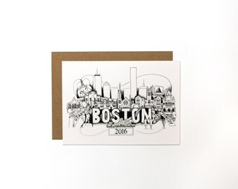 Boston Marathon 2016 Card