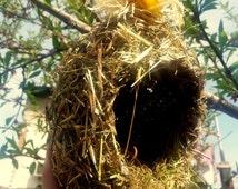 Crafted birdhouse, sunflower decor, rustic wedding,birdnest, egg shaped bird nest,craft kits,outdoor wedding, bird nest, birdnest