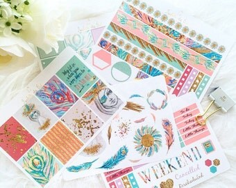 Erin Condren Vertical Shake Your Tail Feathers XL Weekly Planner Kit