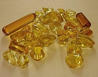 natural stone, citrine, polished stone, polished stone, 25 gram