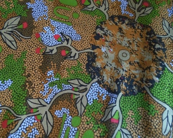 Australian Dreamtime Fabric, by the Half Yard