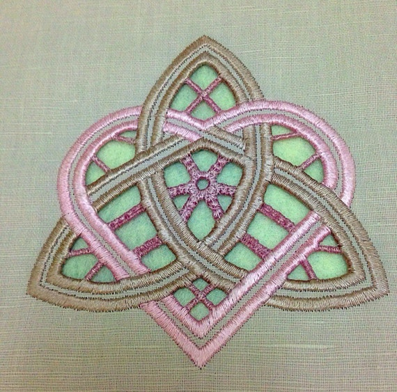 Cutwork machine embroidery design richelieu flower