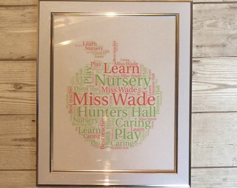 Teacher word art frames