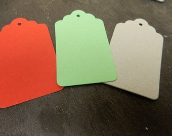 Christmas Gift Tags, Seasonal Luggage Tags, Red Tags, Cardmaking Supplies, Christmas Packaging, Swing Tags