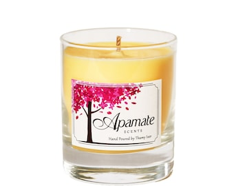 Winter Scented candle with Cinnamon & Orange essential oils. Scented candle with hand poured soy wax - home candles for your hall