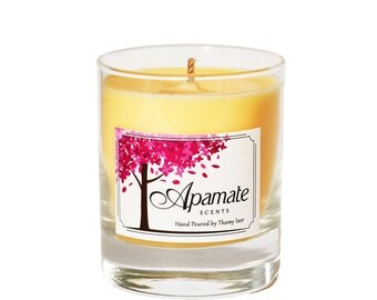 Aromatherapy scented candle with Cinnamon & Orange essential oils. Scented candle with hand poured soy wax - home candles