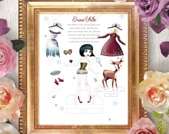 Snow White Paper Doll Fairy Tale